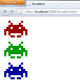 Invaders-in-the-browser